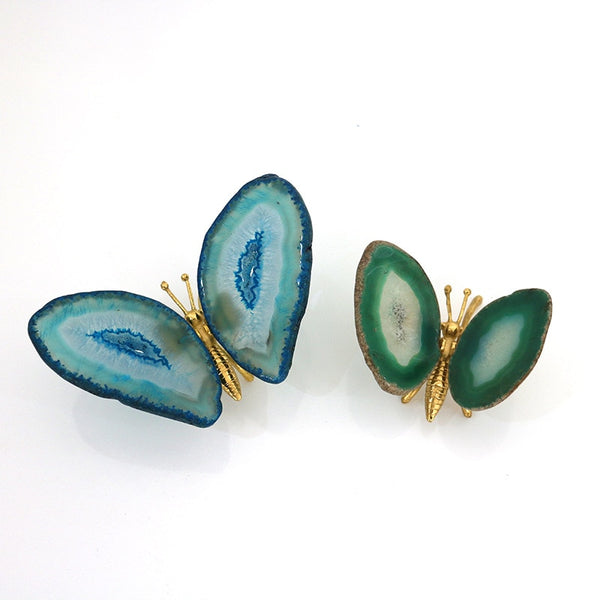 Natural Agate Butterfly Decor