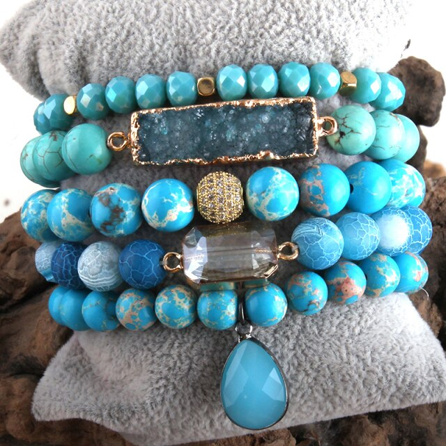 Spirit Of Connection Turquoise Wrap Bracelet