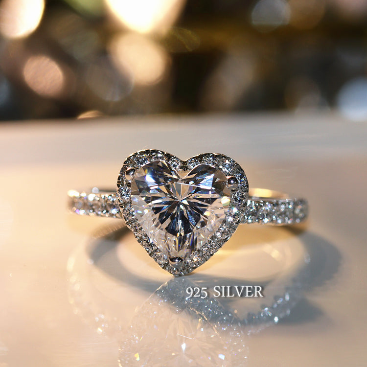 Crystal Princess Heart Ring (925 Sterling Silver)