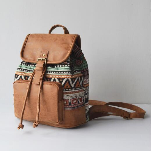 The Bohemian's Backpack Emerald Bags