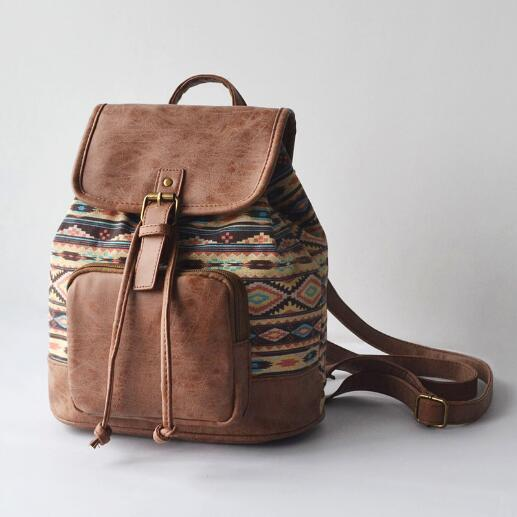 The Bohemian's Backpack Tan Bags