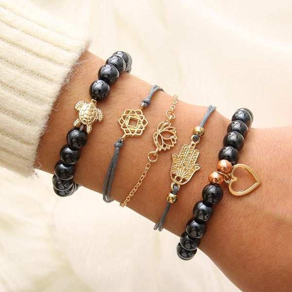 Turtle Love Bracelets Stack Boho Peak