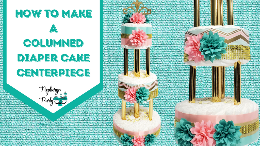 How to Make a Columned Diaper Cake