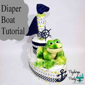How to Make A Nautical Diaper Boat