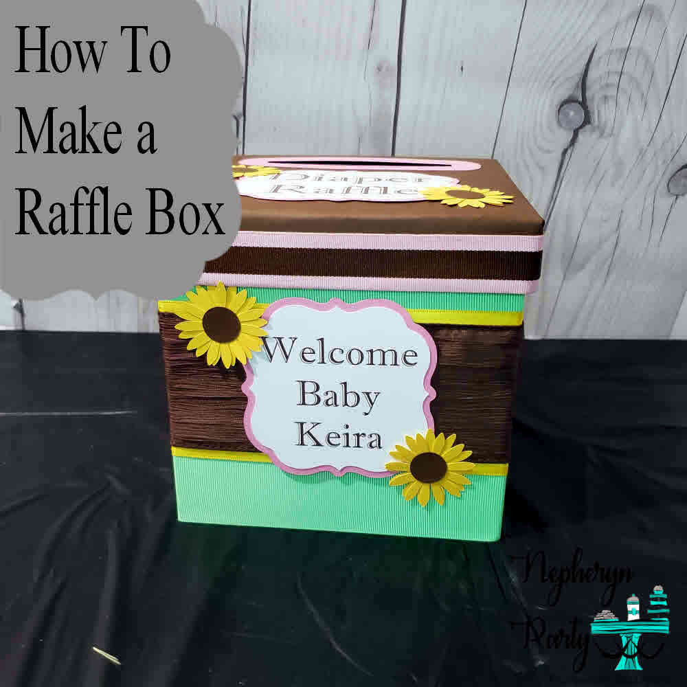 Making a Diaper Raffle Ticket Box