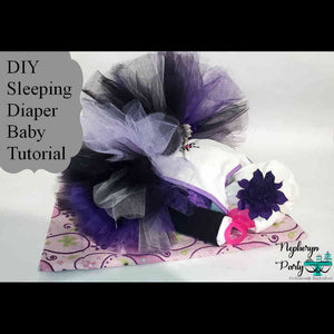 How to Make  Sleeping Diaper Baby with Tutu