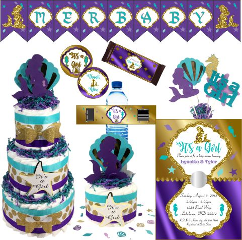 Pregnant Mermaid Baby Shower Collection