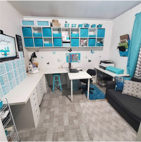 Teal Craft Room Studio