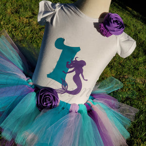Mermaid Birthday Tutu Outfit