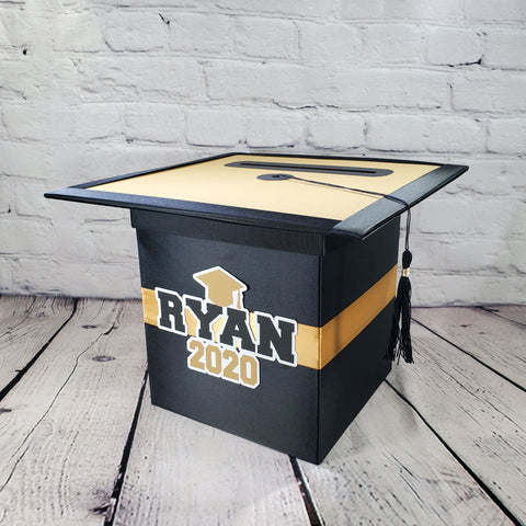 Graduation Party Card Box - Black, Gold