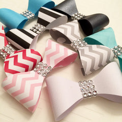DIY Paper Bows and Bow Ties with Bling
