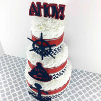 Ahoy, It's A Boy Nautical Baby Shower Diaper Cake