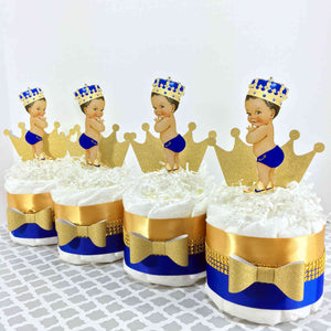 Blue & Gold Royal Prince Baby Diaper Cakes