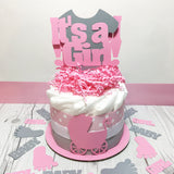 It's A Girl Small Diaper Cake Centerpieces