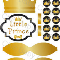Black & Gold Little Prince Diaper Cake Clipart