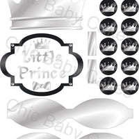 Black & Silver Little Prince Clipart