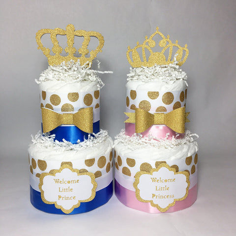 Little Prince and Princess Diaper Cakes