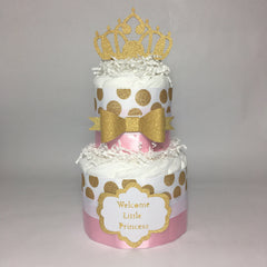 Little Princess Royal Diaper Cake Centerpiece
