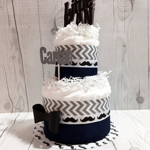Little Man 2-Tier Diaper Cake Centerpiece