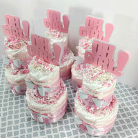 Oh Girl Diaper Cake Centerpieces
