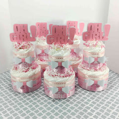 Oh Girl Diaper Cake Centerpiece Set