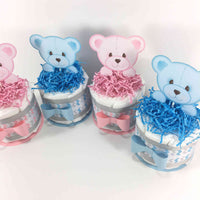 Baby Bear Twins Diaper Cake Centerpieces