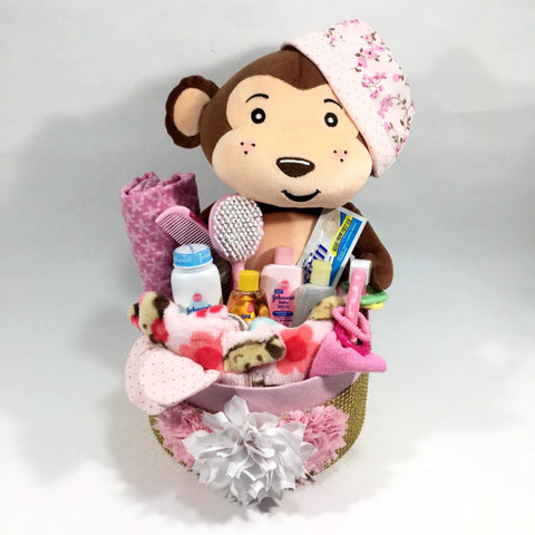 Monkey Baby Shower Gift Set for Girl