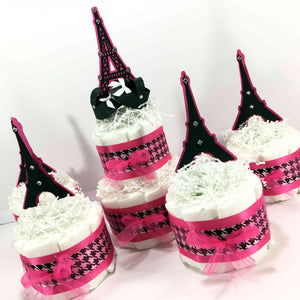 Paris Eiffel Tower Baby Shower Diaper Cakes