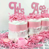 It's A Girl Mini Diaper Cake Centerpiece