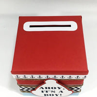 Nautical Diaper Raffle Ticket Box