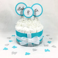 Baby & Co Girl Diaper Cake Centerpiece