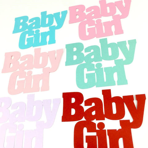 Baby Girl Word Cutouts