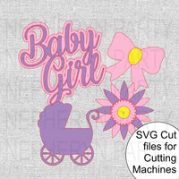 Baby Girl SVG Cutting FIles