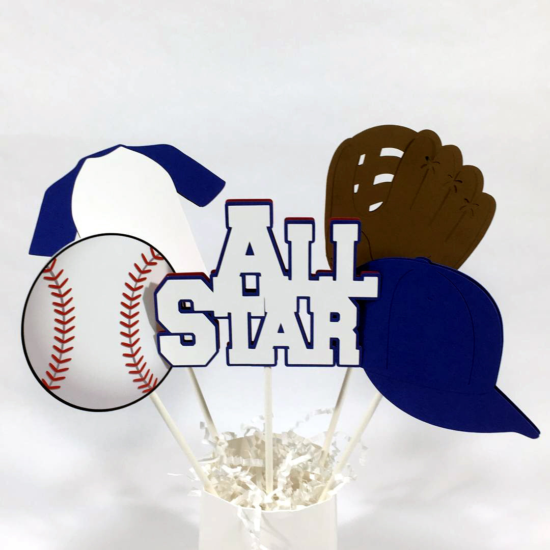 All Star Baseball Centerpiece Sticks