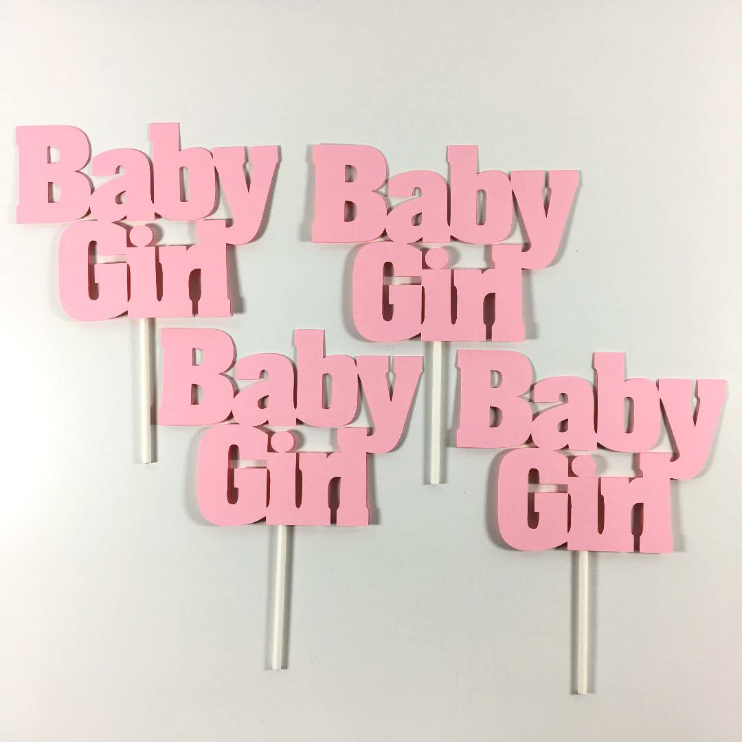 Baby Girl Diaper Cake Toppers