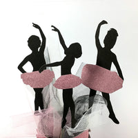Ballerina Silhouette Cake Toppers