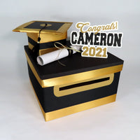 Black & Gold Class of 2021 Card Box