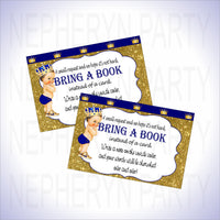 Royal Blue & Gold Prince Bring a Book Cards
