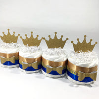 Blue & Gold Royal Prince Mini Diaper Cake Set