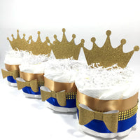 Blue & Gold Royal Prince Mini Diaper Cakes