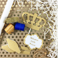 Royal Blue & Gold Little Prince Diaper Cake Kit