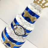 Little Prince Diaper Cake - Blue, Gold