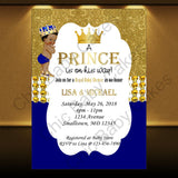 Little Prince Invite - Blue, Gold