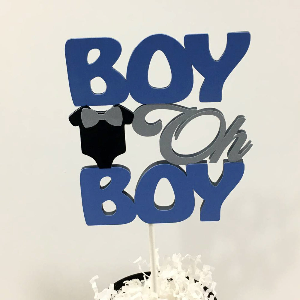 Boy Oh Boy Cake Topper