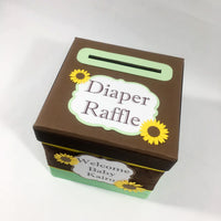 Sunflower Diaper Raffle Ticket Box