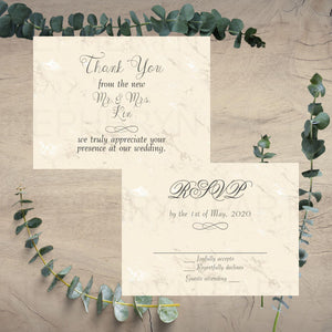 Champagne Wedding RSVP Cards & Thank You Notes