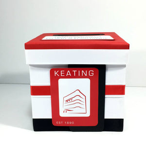 Red & Black Hotel Raffle Ticket Box
