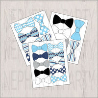 Bow Tie Clipart, Navy, Light Blue, Gray