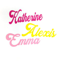 Girl Name Cutouts, Style 2