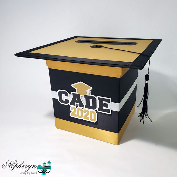 Black & Gold Graduation Card Box